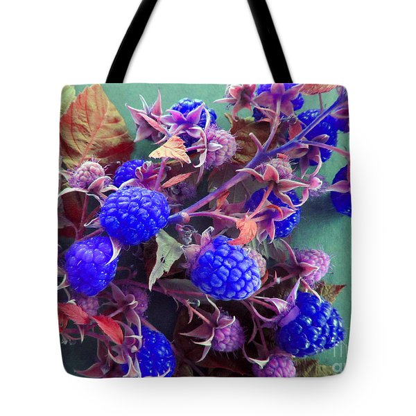 Very Blue Berries Tote Bag by Tina M Wenger