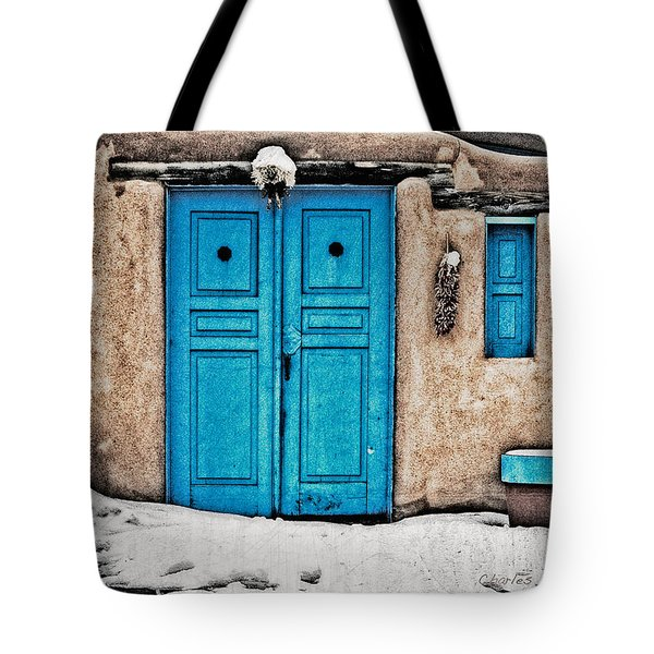 Very Blue Door Tote Bag