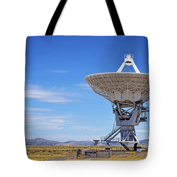 Very Large Array - Vla - Radio Telescopes Tote Bag by Christine Till