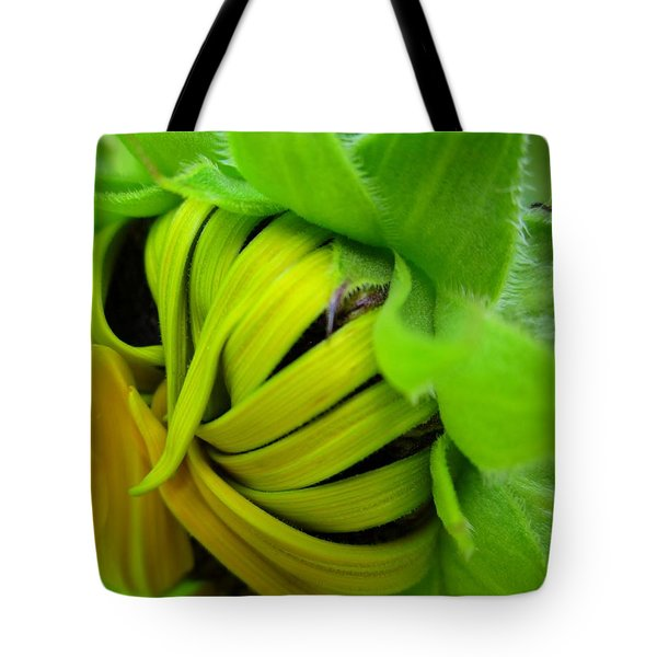 Very Shy Sunflower Tote Bag