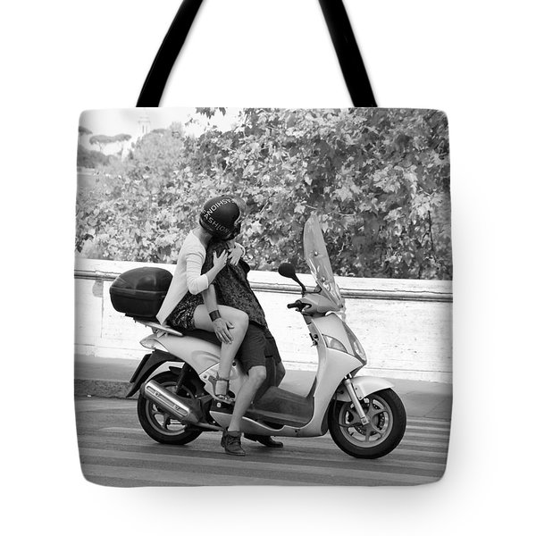 Vespa Romance Tote Bag