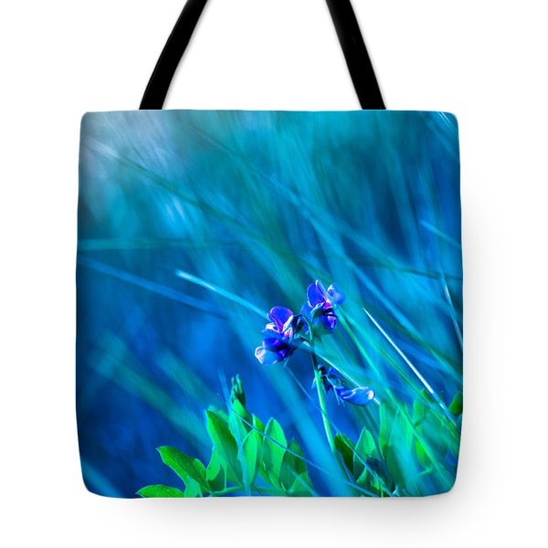 Tote Bag featuring the photograph Vetch In Blue by Adria Trail