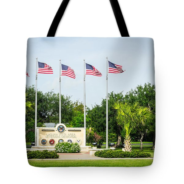 Veterans Memorial Laguna Vista Texas Tote Bag