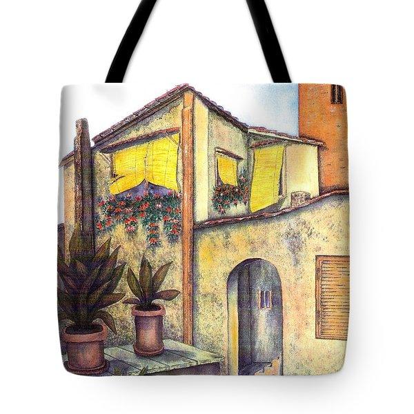 Via Roma Tote Bag by Pamela Allegretto