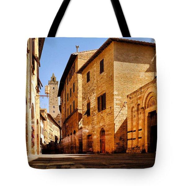 Tote Bag featuring the photograph Via San Giovanni by Fabrizio Troiani