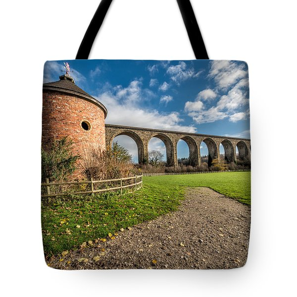 Viaduct Ty Mawr Park Tote Bag by Adrian Evans