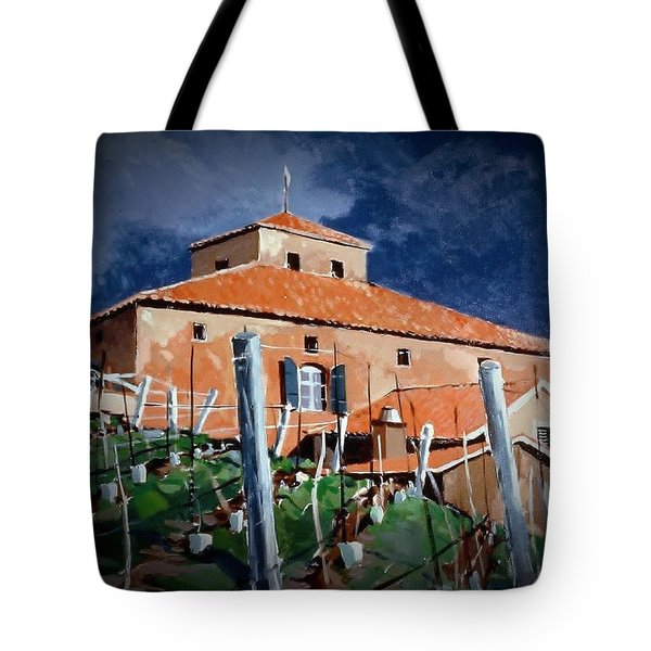 Tote Bag featuring the painting Viansa by Andrew Drozdowicz