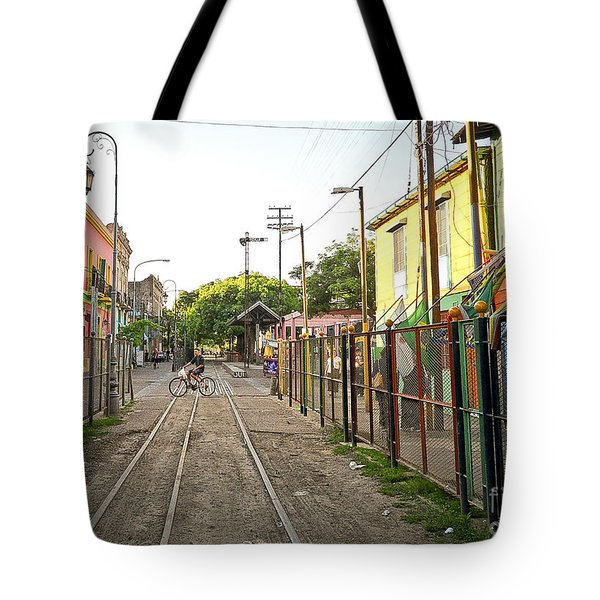 Tote Bag featuring the photograph Vias De Caminito by Silvia Bruno