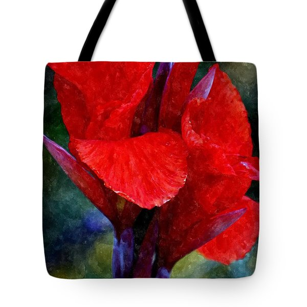 Vibrant Canna Bloom Tote Bag