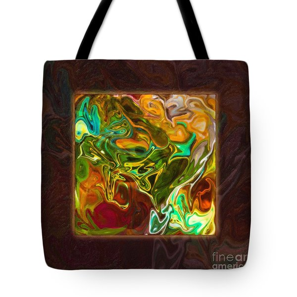 Vibrant Fall Colors An Abstract Painting Tote Bag