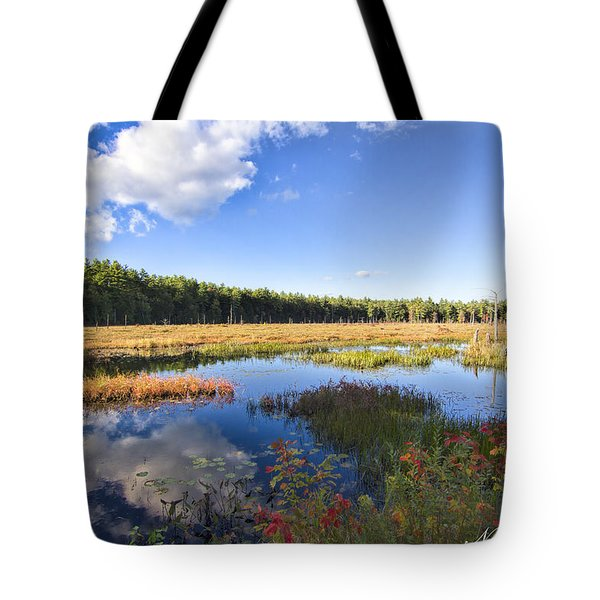 Vibrant Fall Scene Tote Bag