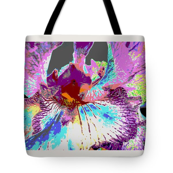 Tote Bag featuring the photograph Vibrant Petals by Sally Simon