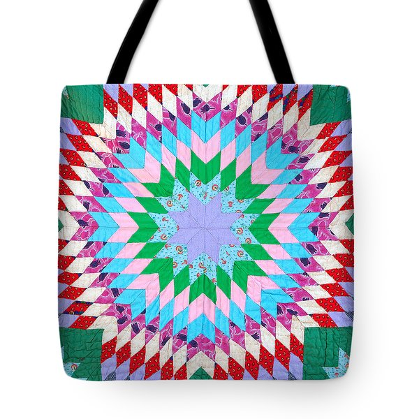 Tote Bag featuring the photograph Vibrant Quilt by Art Block Collections