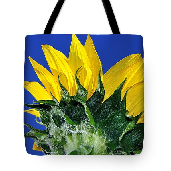 Vibrant Sunflower In The Sky Tote Bag by Kaye Menner