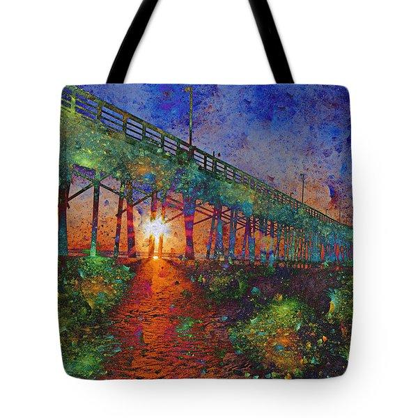 Vibrant Sunrise Tote Bag by Betsy Knapp
