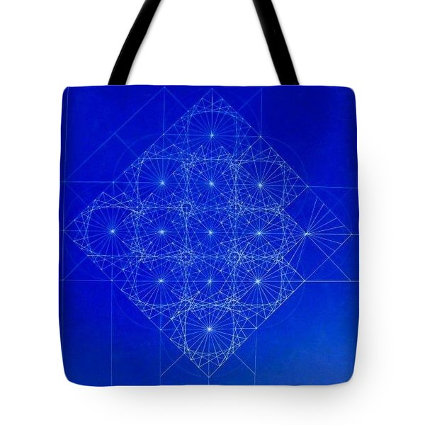 Vibrating Space Time Tote Bag by Jason Padgett