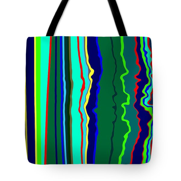 Vibrato Stripes  C2014  Tote Bag