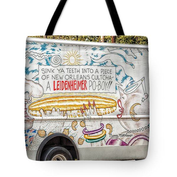 Vic And Nat'ly And The Leidenheimer Po-boy Truck - New Orleans Tote Bag by Kathleen K Parker