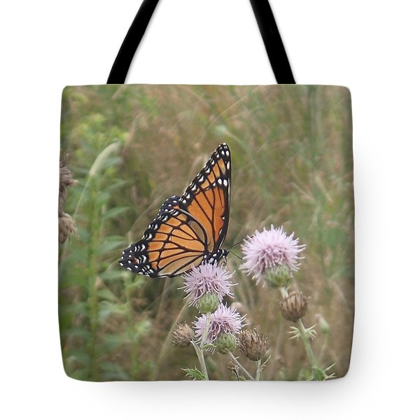 Viceroy On Thistle Tote Bag