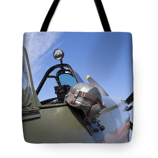 Vickers Spitfire Tote Bag by Daniel Hagerman