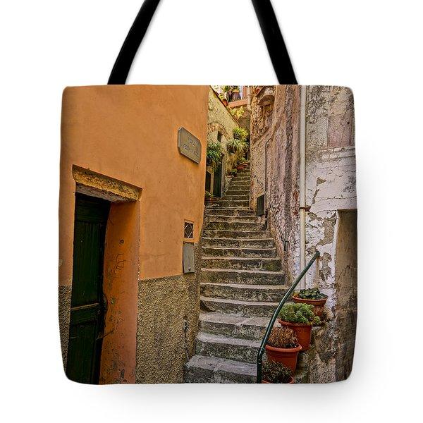 Vicolo Della Valle Riomaggiore Italy Dsc02537  Tote Bag