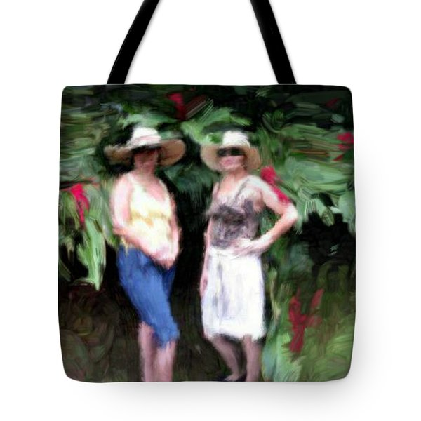 Tote Bag featuring the painting Victoria And Friend by Bruce Nutting