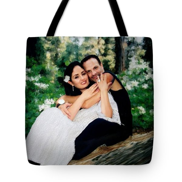 Victoria And Her Man Of God Tote Bag by Bruce Nutting