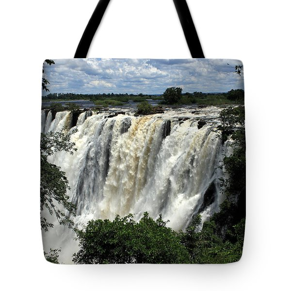 Victoria Falls On The Zambezi River Tote Bag