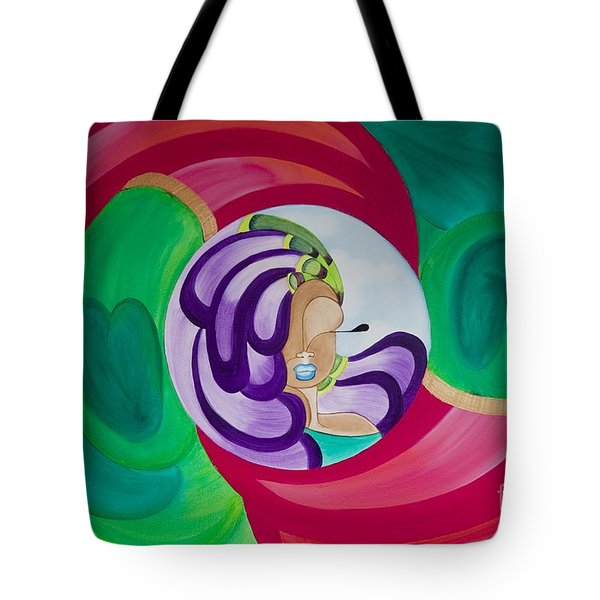 Victoria Peacock Tote Bag