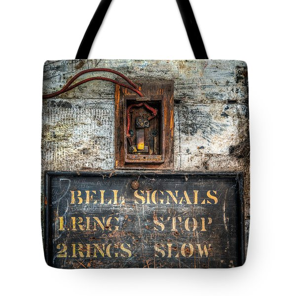 Victorian Bell Sign Tote Bag by Adrian Evans