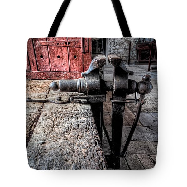 Victorian Bench Vice Tote Bag by Adrian Evans
