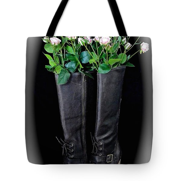 Victorian Black Boots Tote Bag
