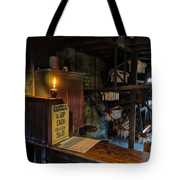 Tote Bag featuring the photograph Victorian Candle Factory by Adrian Evans