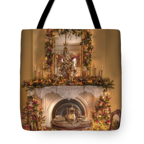 Victorian Christmas By The Fire Tote Bag