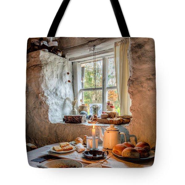 Victorian Cottage Breakfast V.2 Tote Bag