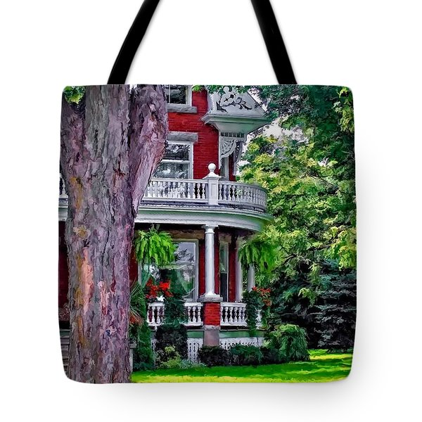 Victorian Home Tote Bag by Steve Harrington
