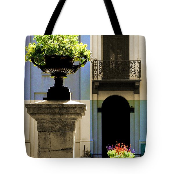 Victorian House Flowers Tote Bag