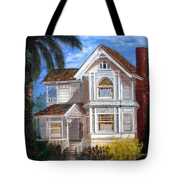 Tote Bag featuring the painting Victorian House by LaVonne Hand