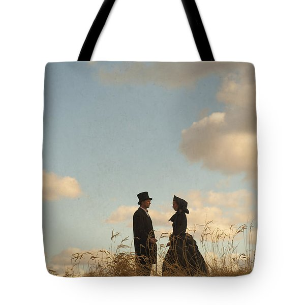 Victorian Man And Woman Tote Bag by Lee Avison
