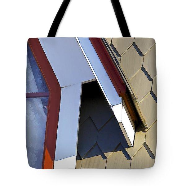 Victorian Red Wood Window IIi Tote Bag