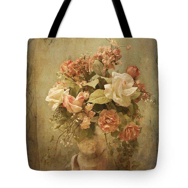 Victorian Rose Floral Tote Bag
