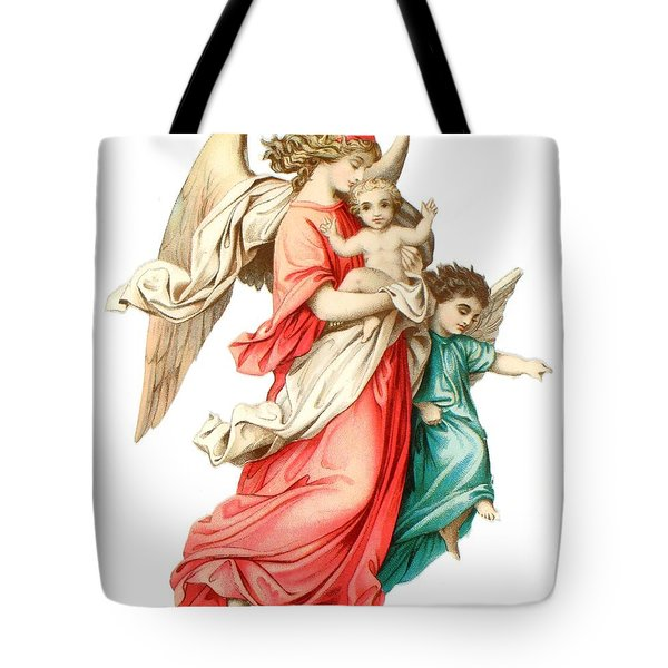 Victorian Scrap Relief Of The Christ Child Tote Bag by English School