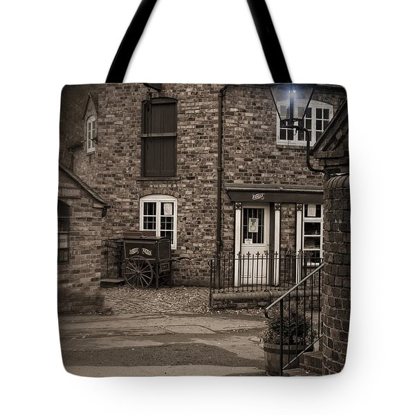 Victorian Stone House Tote Bag by Amanda Elwell