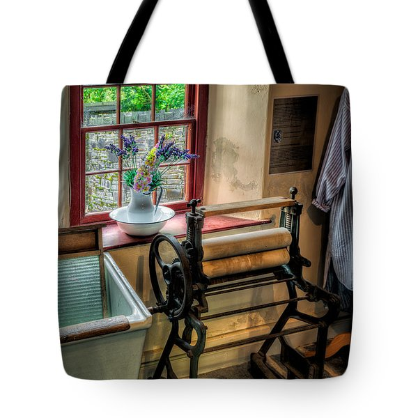 Victorian Wash Room Tote Bag by Adrian Evans