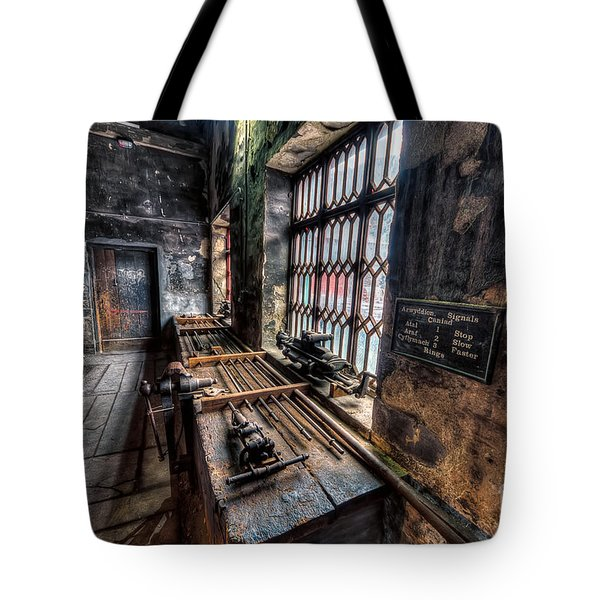 Tote Bag featuring the photograph Victorian Workshops by Adrian Evans