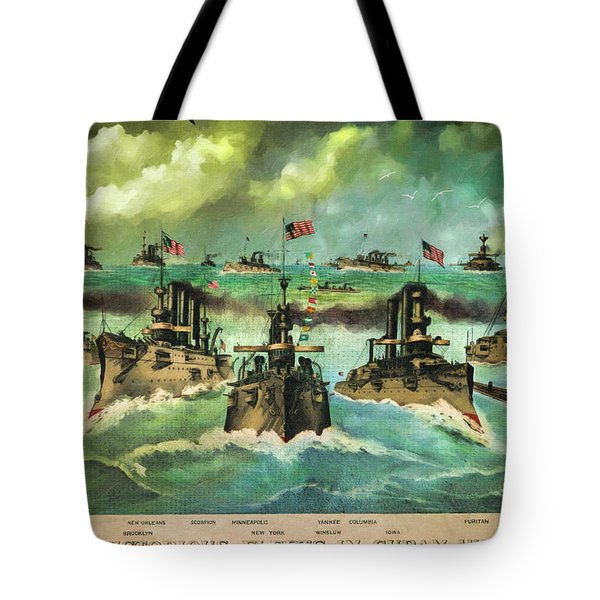 Victorious Navy - 1898 Tote Bag by Lianne Schneider