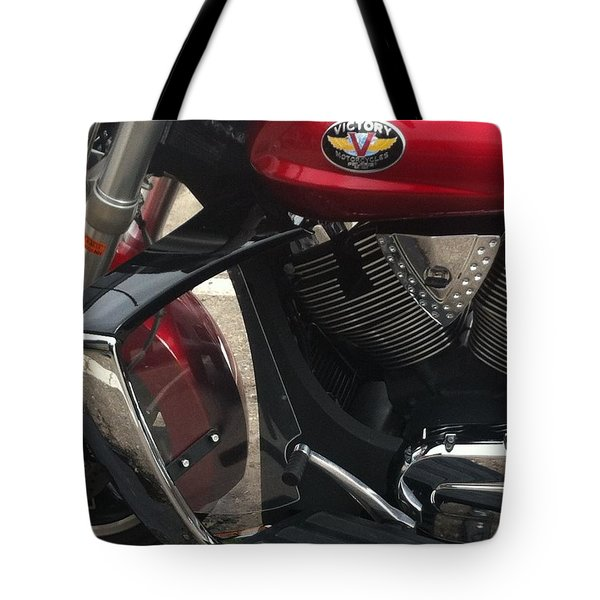 Victory Cycle Tote Bag by Denyse Duhaime