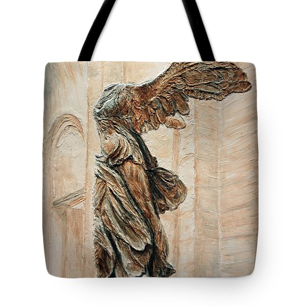 Victory Of Samothrace Tote Bag by Joey Agbayani