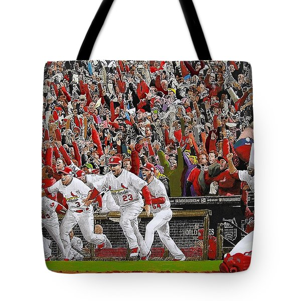 Victory - St Louis Cardinals Win The World Series Title - Friday Oct 28th 2011 Tote Bag