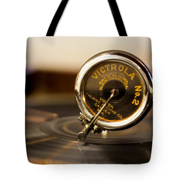Tote Bag featuring the photograph Victrola No 2 by Fran Riley